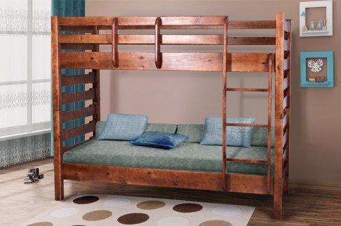 Ліжко  80*200 двоярусне в дитячу кімнату з дерева Троя Уют  Мікс Меблі