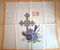 Пасхальное полотенечко 50х50 см с вышивкой крестом