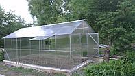 Теплица двухскатная 3х4, стандарт поликарбонат 6 мм