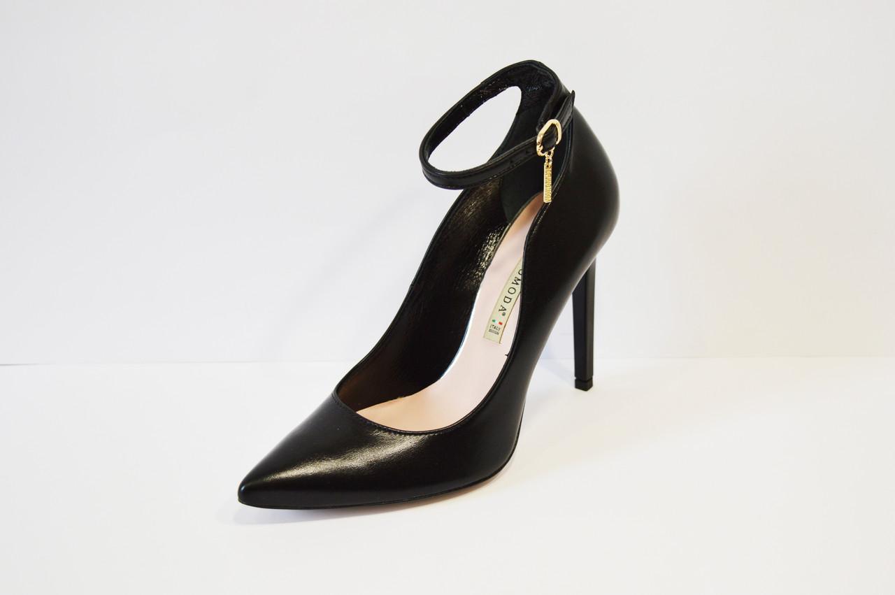 Туфли кожаные на шпильке Bravo Moda 1633