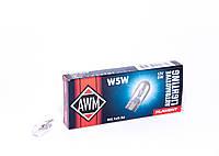 Лампа накаливания AWM W5W 12V 5W (W2.1x9.5d)
