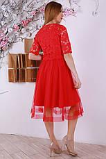 Нежное весеннее платье с евросеткой и вышивкой, фото 3