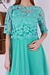 Нежное весеннее платье с евросеткой и вышивкой 46-50, фото 3