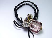 Резинки для волос Кристалл и бантик цвет коричневый и черный