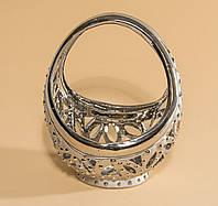 Конфетница фарфоровая Перстень (серебряная)