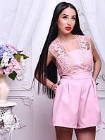 Потрясающий розовый женский комбинезон