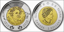 Канада 2 долара 2015 Макдональд