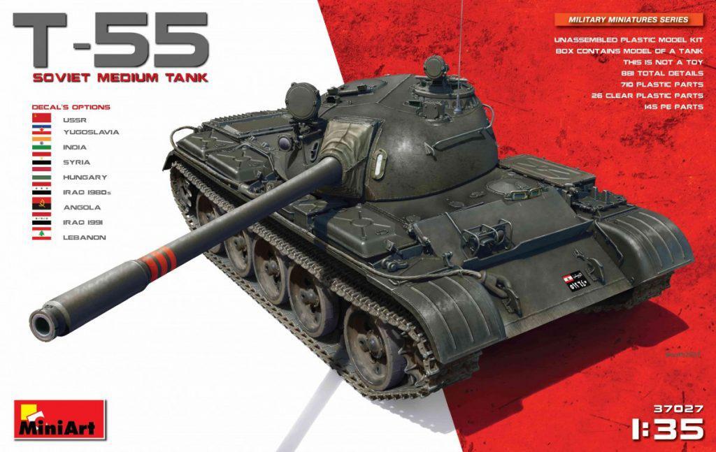 Т-55. Сборная модель советского среднего танка. 1/35 MINIART 37027