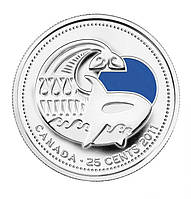 Канада 25 центов 2011, Косатка ЦВ.ЭМАЛЬ