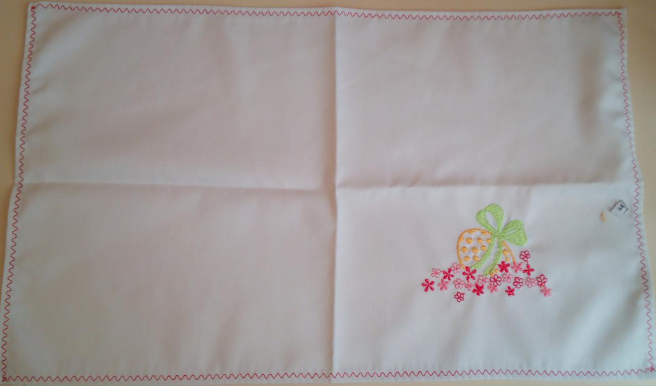 Пасхальное полотенечко 46х28 см с вышивкой гладью