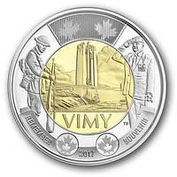 Канада 2 долара 2017 Сторіччя битви Вими-Ріджі