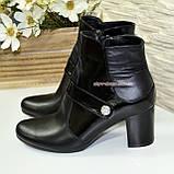 Женские демисезонные полуботинки на невысоком каблуке, натуральная кожа и лак, фото 4