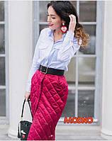 Любимая блоггерами юбка из стёганного атласа
