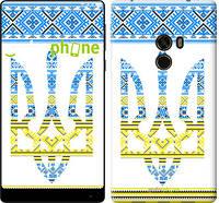 """Чехол на Xiaomi Mi MiX Герб - вышиванка желто-голубая """"1197u-426-571"""""""