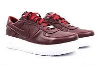 Туфли женские Nike спортивные, натуральная кожа, цвет бордо (платформа, комфорт, весна\осень, Украина) 39