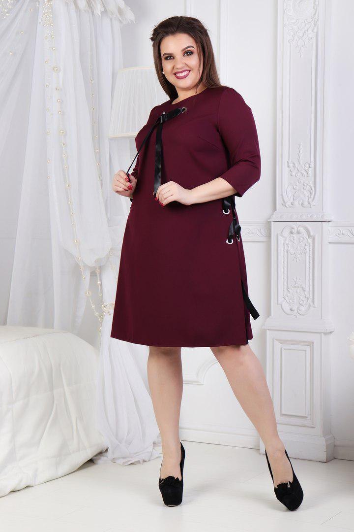 Женское короткое платье Большого размера
