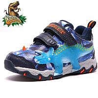 Светящиеся 3D кроссовки «Dinosoles» TRICERATOPS blue 4ae2a64069cef