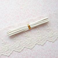 Ремень для кукол, отрез 50 см, ширина 3 мм - белый