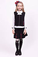 Костюм жилетка и юбка K-10, фото 1