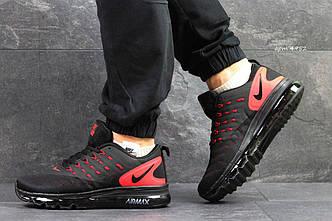 Кроссовки мужские Nike Air Max lunarlaunch черно-красные
