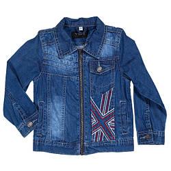 Детский джинсовый пиджак на молнии