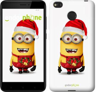 """Чехол на Xiaomi Redmi 4X Миньоны. Рождество """"1485c-778-571"""""""