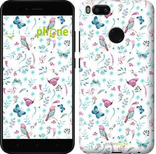 "Чехол на Xiaomi Mi 5X Бабочки и птички ""3371c-1042-571"""