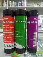 Маркерный карандаш (ручка) для животных 60 мл/mc animal marking stick