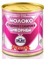 """Молоко цельное сгущенное с сахаром и цикорием """"Рогачев"""" 380 гр."""