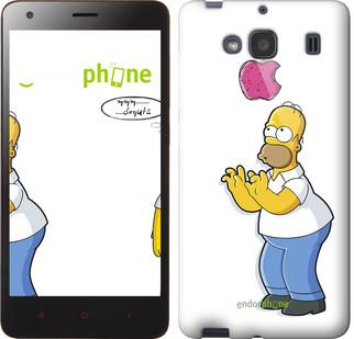 """Чехол на Xiaomi Redmi 2 Симпсоны, Гомер с яблоком """"937c-98-571"""""""