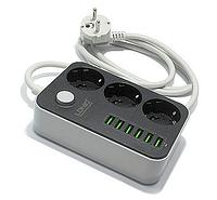 Умный удлинитель LDNIO Anti-static 3 Power Socket 6 USB 1.6m 5V 3.4A ЮСБ! (100% ПРЕДОПЛАТА!), фото 1