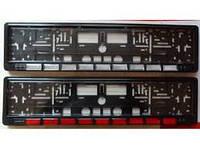 Рамка номера  широкий катафот червон/білий кт 2шт. (шт.)