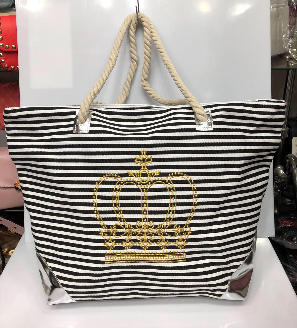 Пляжная сумка на канатах Золотая корона