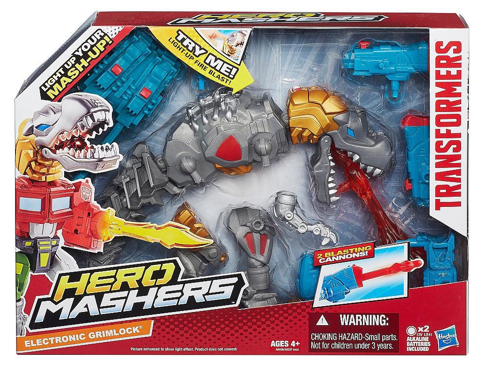 Разборная фигурка трансформера Гримлока с подсветкой - Electronic Grimlock, Mashers, Hasbro
