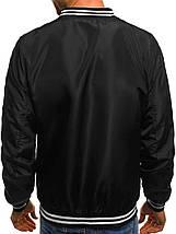 Куртка-бомбер мужская весна\осень (черный), фото 3