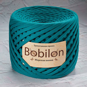 Трикотажная пряжа Bobilon Micro (3-5мм). Морская Волна