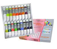 Lady Victory Акриловые краски для рисования, набор 18 цветов