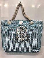 Пляжная сумка  на канатах с якорем