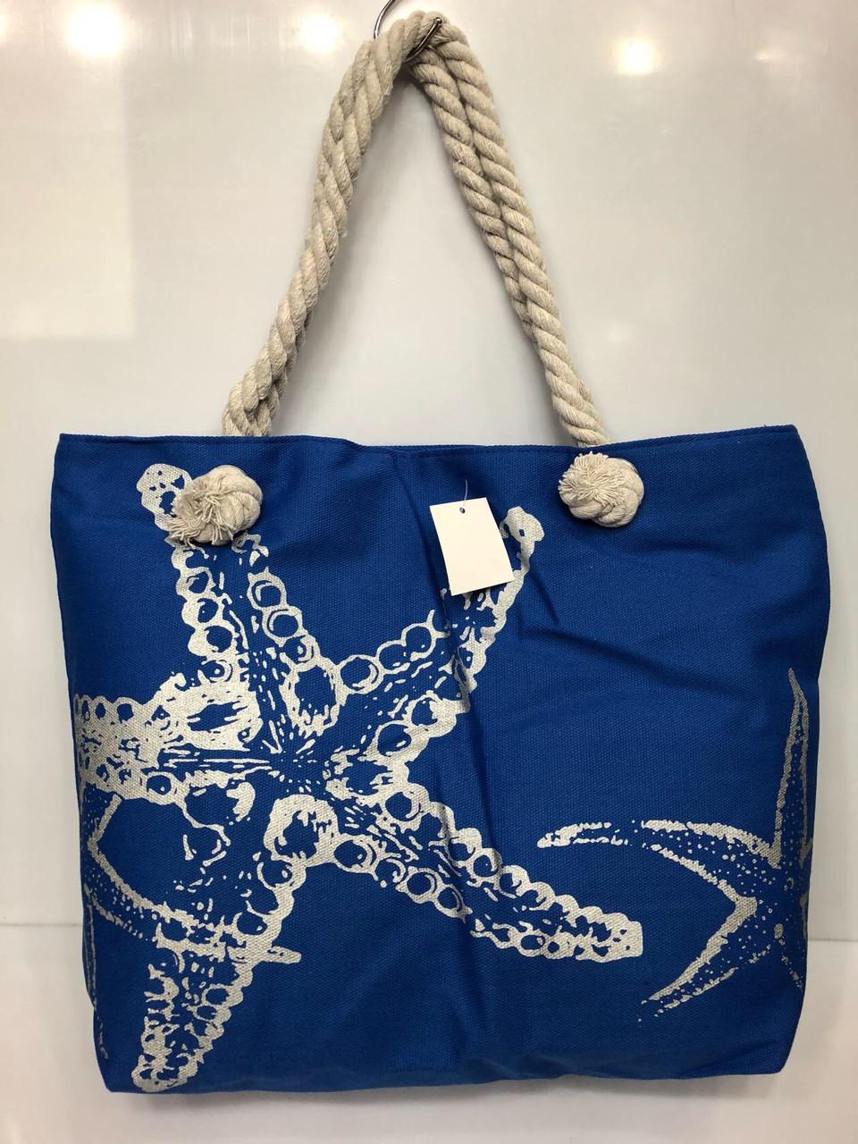 Пляжная сумка  на канатах Морская звезда