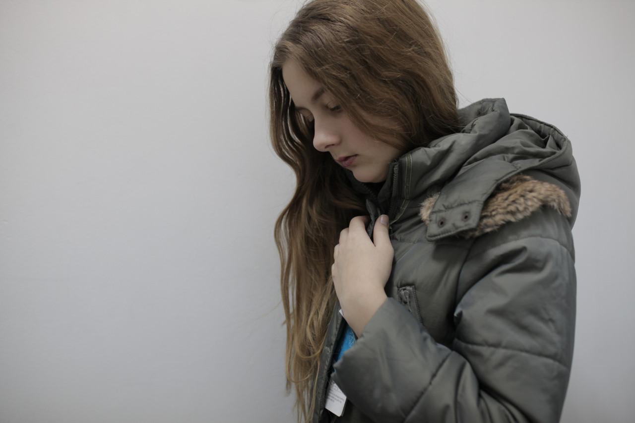 Пальто зимнее для девочки длинное водонепроницаемое