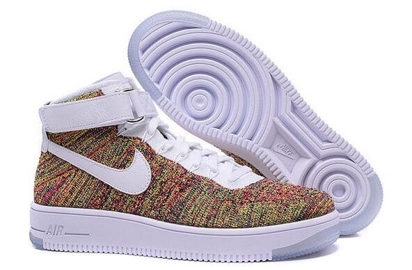 Кроссовки Nike Air Force 1 Mid Flyknit Volt Wite