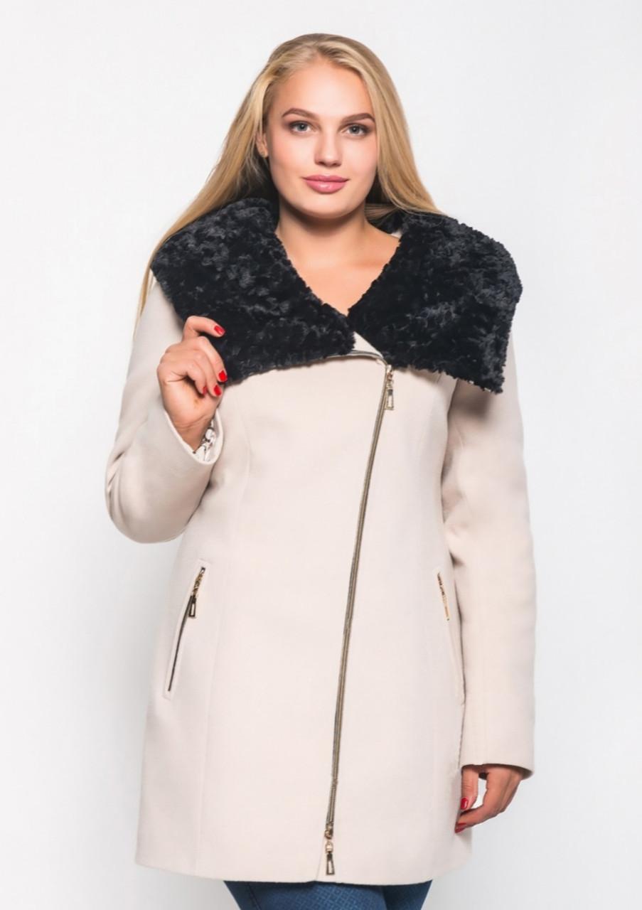 Пальто женское большой размер ЗИМА