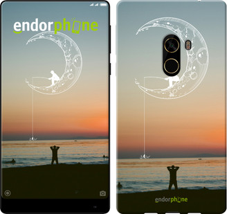 "Чехол на Xiaomi Mi MiX 2 Мальчик на луне на закате ""4015u-1067-571"""