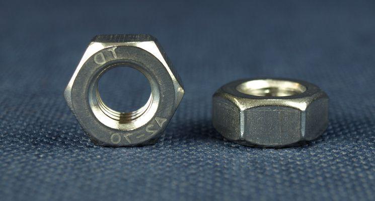 Гайка М2,5 шестигранная ГОСТ 5915-70, DIN 934 из нержавеющей стали А2