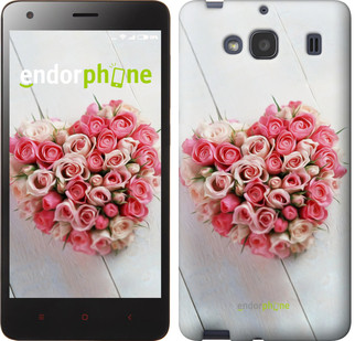 """Чехол на Xiaomi Redmi 2 Сердце из роз """"713c-98-571"""""""