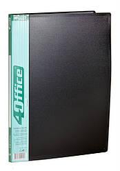 Папка з файлами, А4, 10ф,500/20мкн PP, 4-222, 4OFFICE