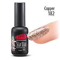 Глиттерный гель-лак Pnb 182 8 мл Copper
