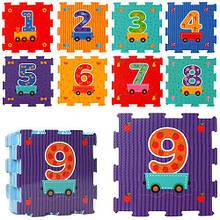 Розвиваючий килимок-мозаїка Вагончик з цифрами