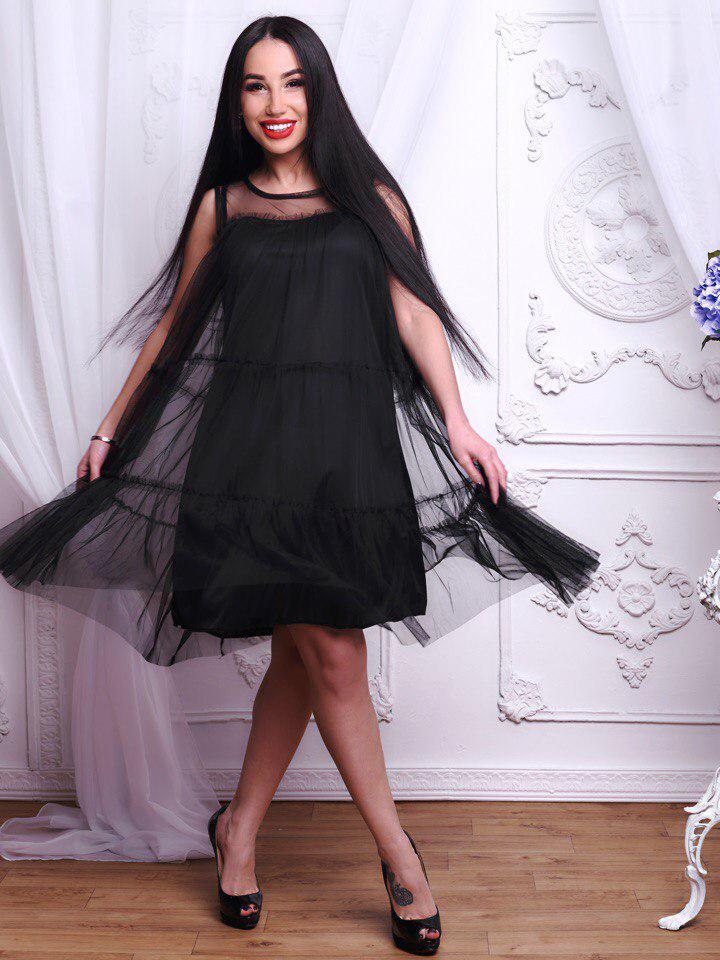 8718912d81f6df2 Модное женское платье из воздушного шифона - Интернет-магазин