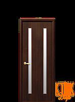 Межкомнатные двери Новый Стиль Вера ПВХ стекло сатин (орех премиум)